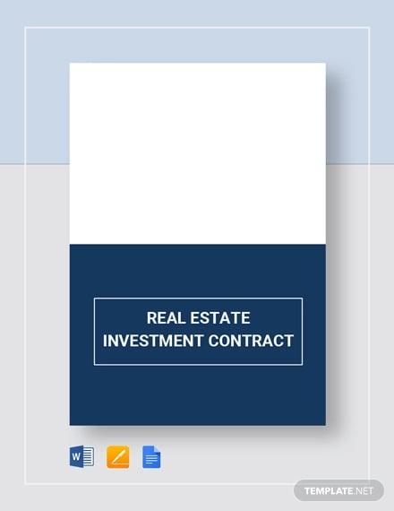 9 Investment Contract Templates Pdf Doc Free Premium Templates