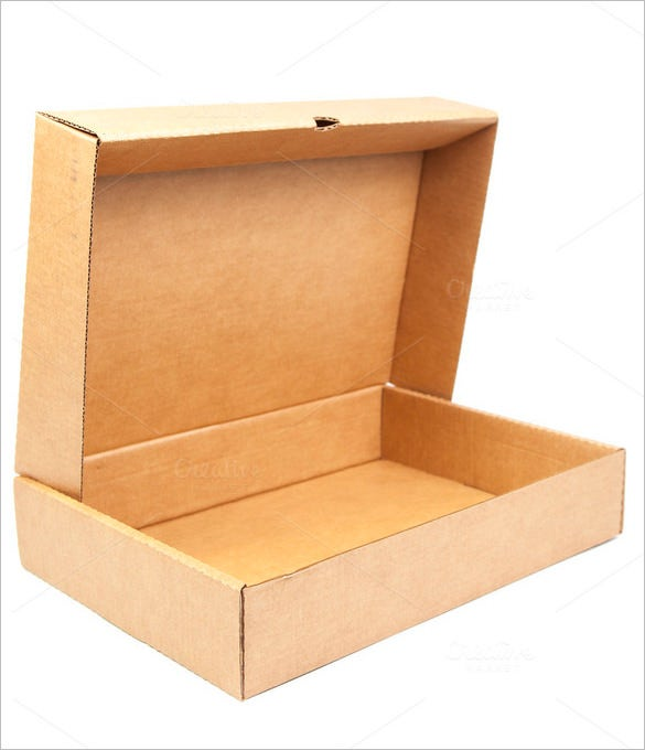 rectangular box template with lid