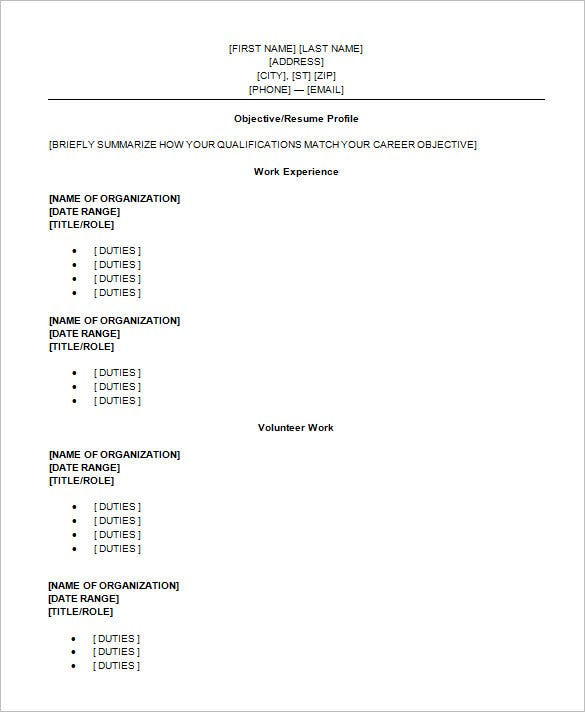 High School Resume Templates Free Samples Examples Resume