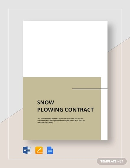 snow plowing contract