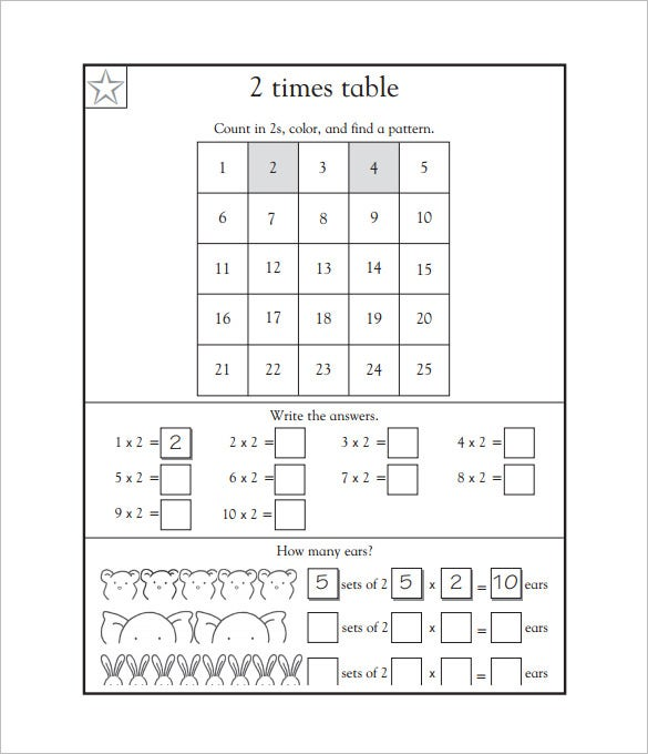 15 Times Tables Worksheets Free Pdf Documents Download. Times Tables Worksheets Printable. Worksheet. 2 Times Table Worksheets At Clickcart.co