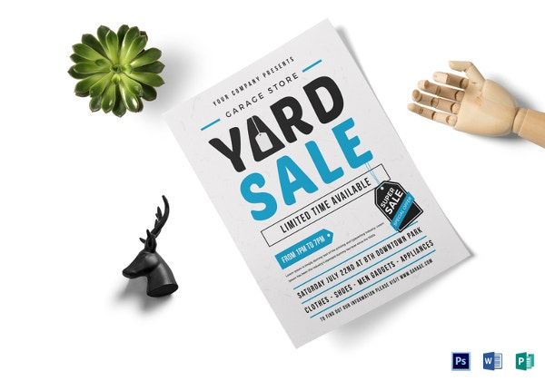 yard sale flyer template free
