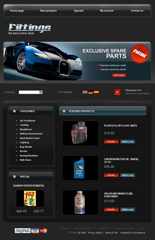 auto parts oscommerce templates themes free premium free premium templates. Black Bedroom Furniture Sets. Home Design Ideas