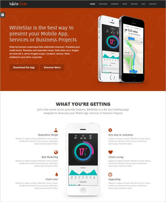 what is a responsive template - 20 html5 landing page themes templates free premium