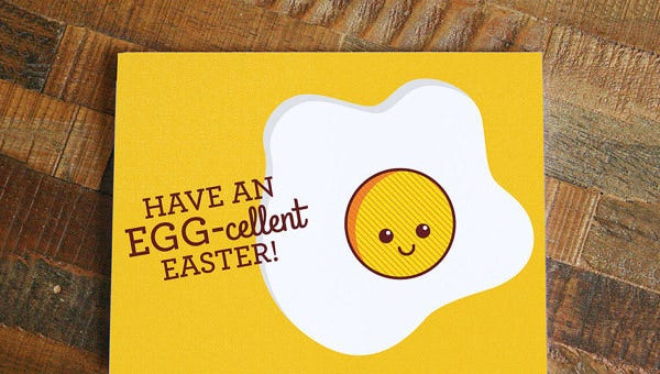 easter card template.