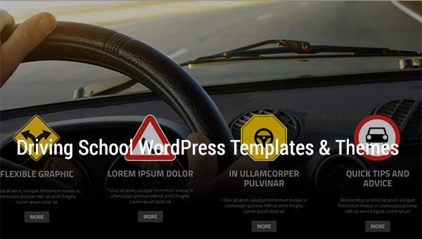 driving school wordpress templates themes