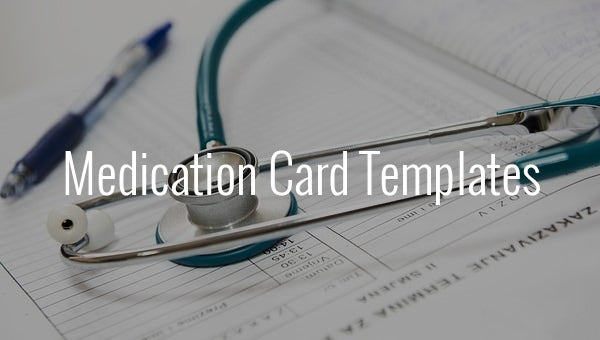 medication card template