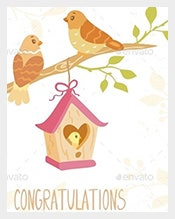 Birds-Family-Congratulation-Card-Template