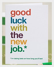 Good Luck With The New Job Card  Good Luck Cards To Print