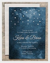 Painted-Starry-Night-Wedding-Invitation-Card
