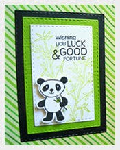 Panda-Good-Luck-Card-Template