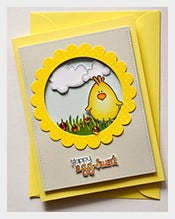 Yellow-Colour-Easter-Card-Template