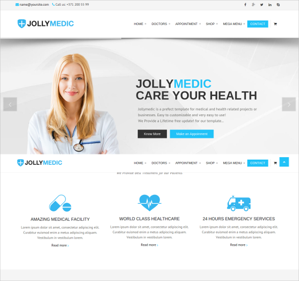 modern and unique design medical html template