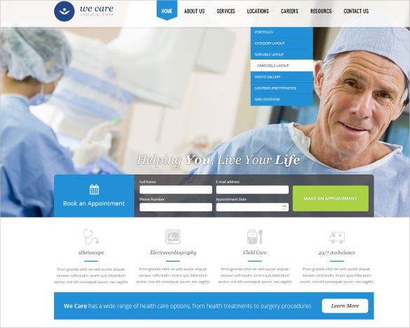 flex slider integrated medical html template