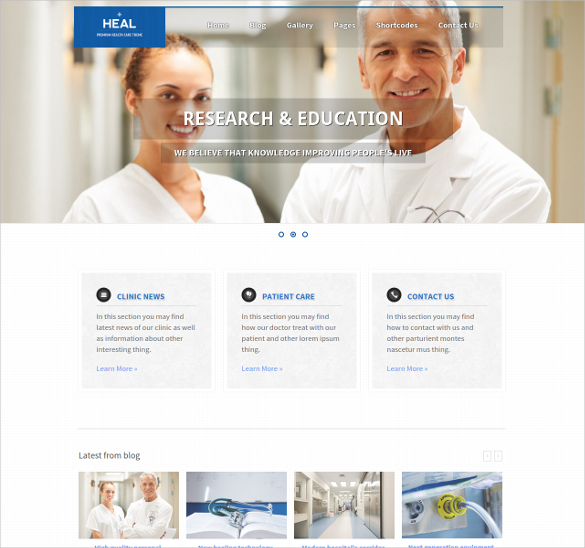 nivo slider integrated medical and health html template