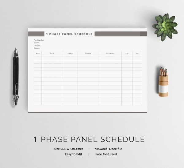 Panel Schedule Template   Free Word Excel Pdf Format Download