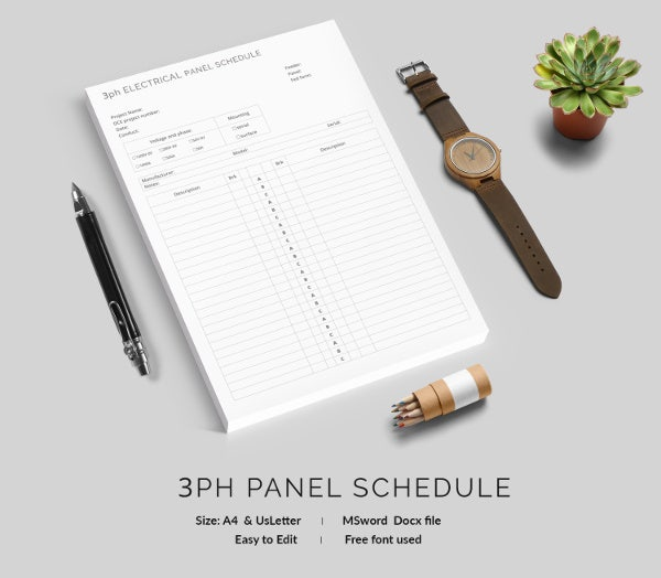 Panel Schedule Template - 18+ Free Word, Excel, PDF Format ...