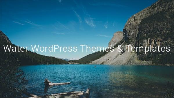 water wordpress themes templates