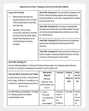 School-Action-Plan-Template