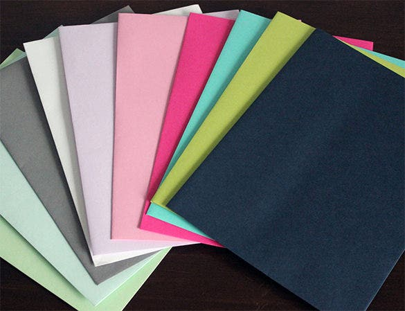 10 unique colored 4 x 6 envelope template 8