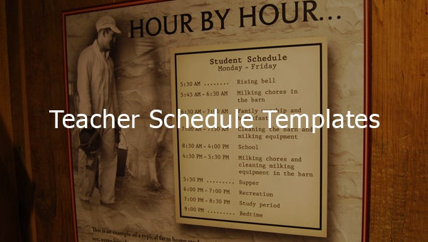 teacherscheduletemplates