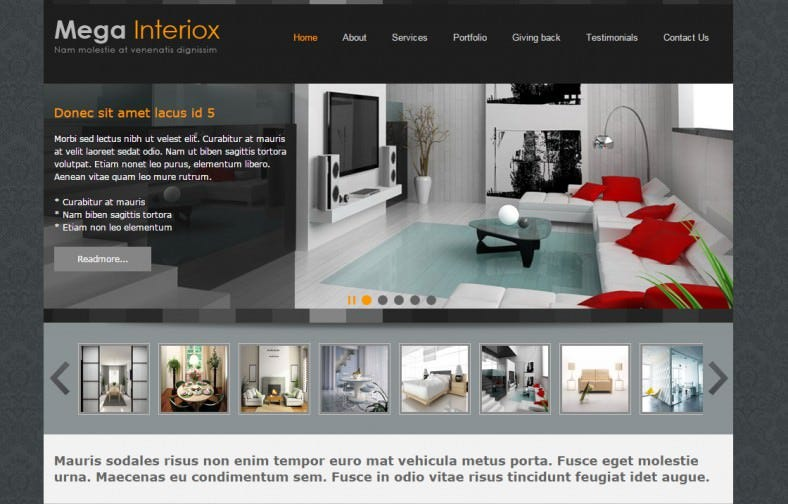 Interior Home Design Template