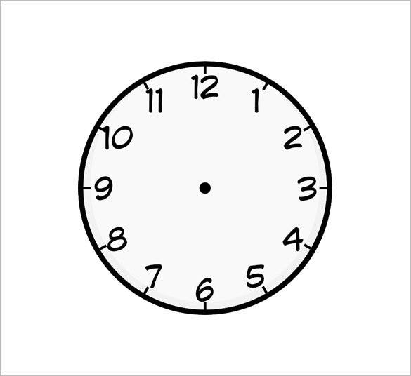 clock face template free download1