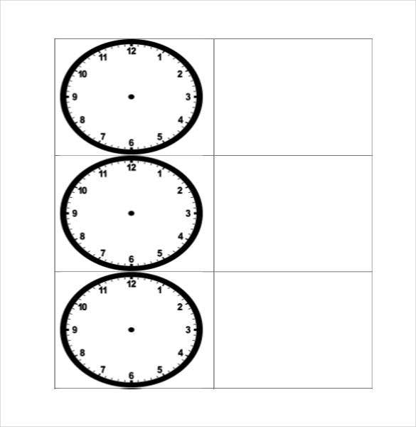 printable blank clock template free download