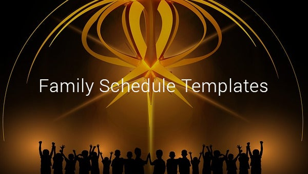 family schedule templates