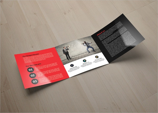Business Marketing Square Trifold Brochure