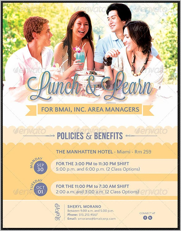 lunch and learn corporate invitation for meeting template