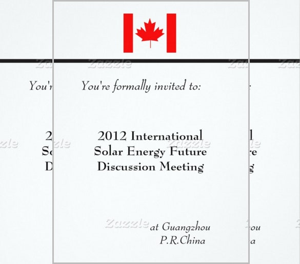 international business meeting invitation template
