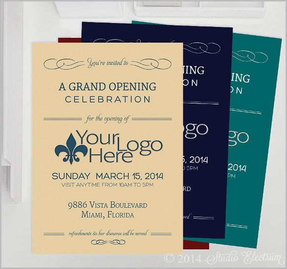 grand opening customized digital invitation