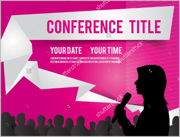 simple conference template illustration with space