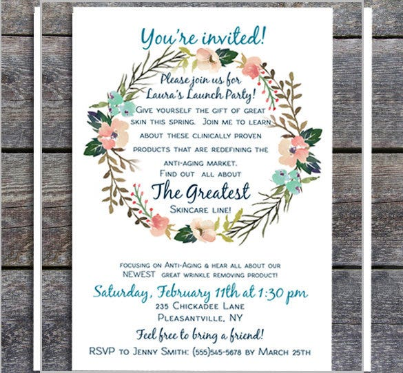 personalize custom business launch party invitation