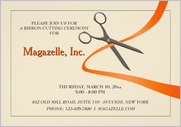 magazelle business meeting invitation template