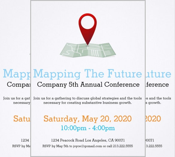 complany mapping the future conference invitation