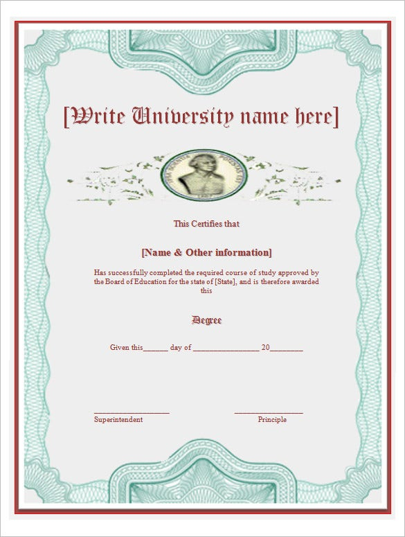 University Certificates Templates Idealstalist