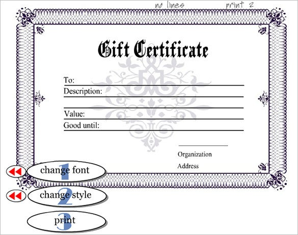 Sample Certificate Template 15 Free Word PDF Documents – Birth Certificate Template Free Download