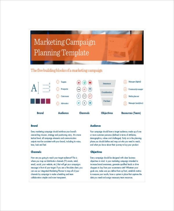 Marketing Campaign Templates  Free Sample Example Format