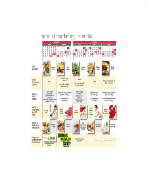6+ Marketing Calendar Templates - Free Sample, Example, Format