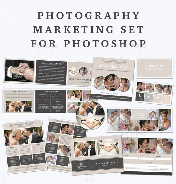 sample photography marketing set template
