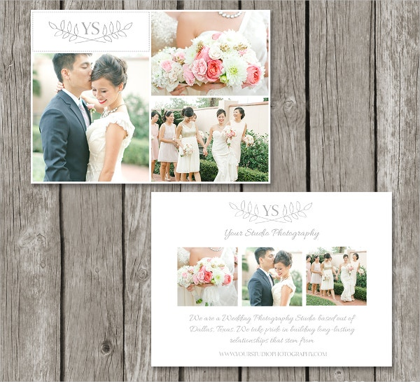 sample marketing card photography template