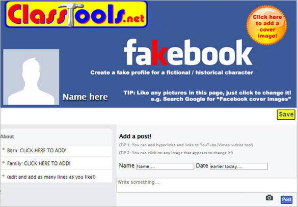 Free Facebook Post Template Generator