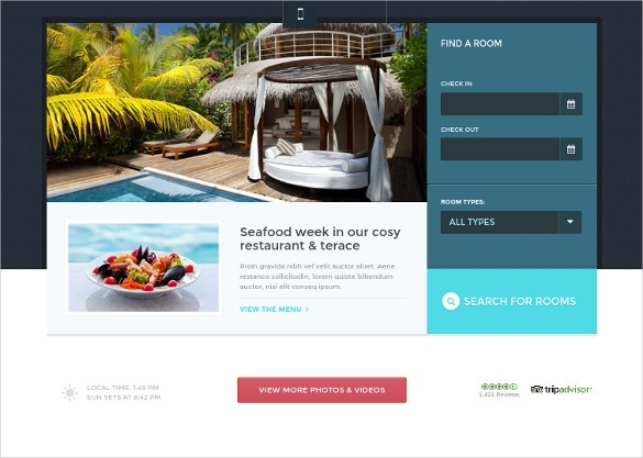 Travel & Hotel WordPress Theme