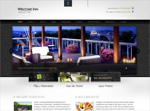 Luxury Travel & Hotel WordPress Template