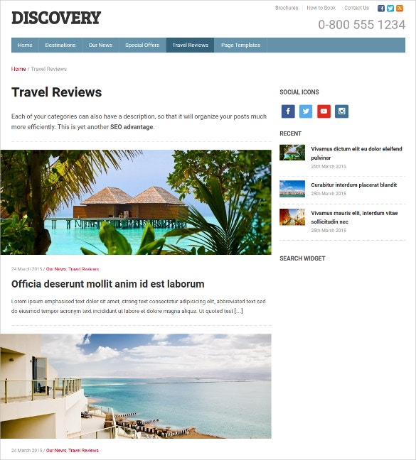 Travel Discovery WordPress Theme