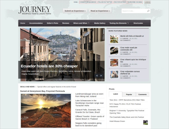 Travel Journey WordPress Theme