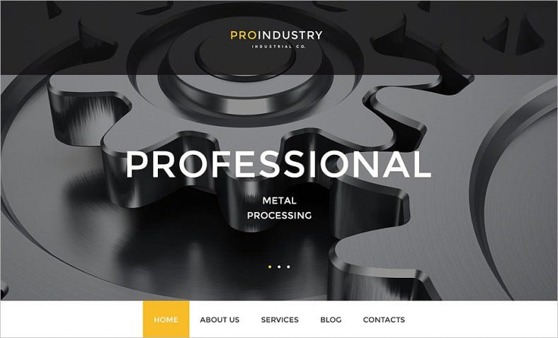 2 Step Installation WordPress Theme for Industry