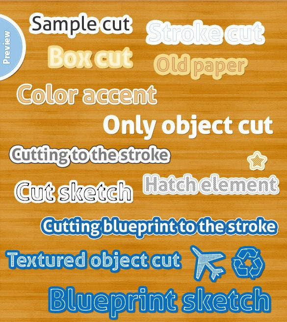 20 Photoshop Styles Paper Cut Templates